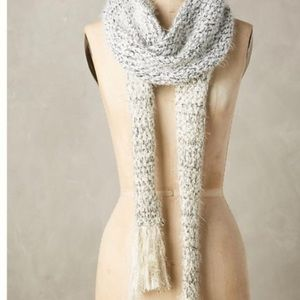 Anthropologie tinsel scarf new white silver gold